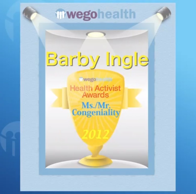 WEGO Health Activist Award to Barby Ingle
